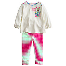 Buy Baby Joule Poppy Mouse Top & Leggings Set, Cream/Pink Online at johnlewis.com