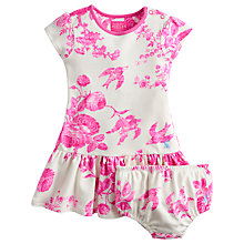 Buy Little Joule Girls' Josie Flower Print Dress & Pants Set, Pink/Cream Online at johnlewis.com