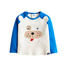 Buy Baby Joule Rex Bear Top, Cream/Blue Online at johnlewis.com