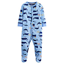 Buy Baby Joule Ziggy Whale Sleepsuit, Blue Online at johnlewis.com