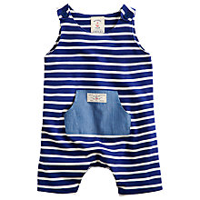 Buy Baby Joule Duncan Dungaree Stripe, Blue/White Online at johnlewis.com