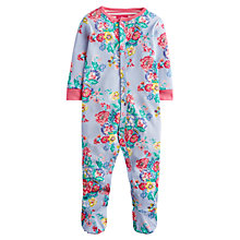 Buy Baby Joule Razamataz Flower Sleepsuit, Blue Online at johnlewis.com