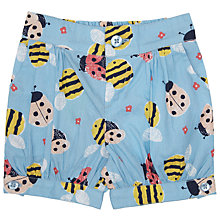 Buy John Lewis Baby's Bee Print Shorts, Blue/Multi Online at johnlewis.com