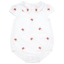 Buy John Lewis Baby's Butterfly Embellished Bodysuit, White Online at johnlewis.com