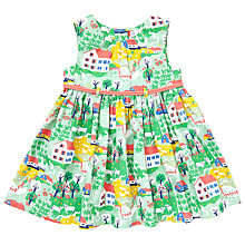 Buy John Lewis Baby's House Scenic Print Dress, Green/Multi Online at johnlewis.com