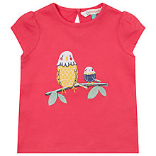 Buy John Lewis Bird Applique T-Shirt, Pink Online at johnlewis.com