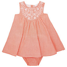 Buy John Lewis Embroidered Chambray Dress & Knickers, Orange Online at johnlewis.com
