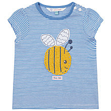 Buy John Lewis Short Sleeve Bee T-Shirt, Blue/White Online at johnlewis.com