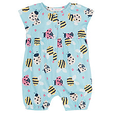 Buy John Lewis Baby's Bee Print Playsuit, Blue/Multi Online at johnlewis.com