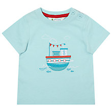 Buy John Lewis Embroidered Boat T-Shirt, Blue Online at johnlewis.com