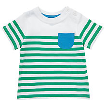 Buy John Lewis Baby's Breton Stripe Pocket T-Shirt Online at johnlewis.com