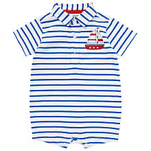 Buy John Lewis Baby Stripe Boat Bodysuit, Blue/White Online at johnlewis.com