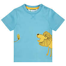 Buy John Lewis Baby's Lion Print T-Shirt, Blue Online at johnlewis.com