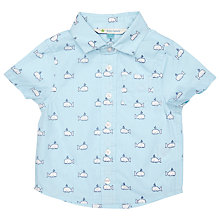 Buy John Lewis Baby's Short Sleeve Whale Print Shirt, Blue Online at johnlewis.com