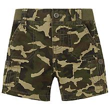 Buy John Lewis Baby's Camouflage Print Shorts, Green/Brown Online at johnlewis.com