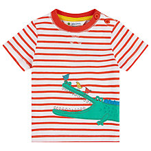 Buy John Lewis Crocodile Stripe T-Shirt, Red/White Online at johnlewis.com