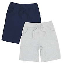 Buy John Lewis Baby's Jersey Shorts, Pack of 2, Navy/Grey Online at johnlewis.com