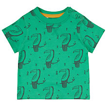 Buy John Lewis Baby Toucan T-Shirt, Green Online at johnlewis.com