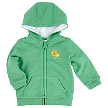 Buy John Lewis Baby's Lion Embroidery Hoody, Green Online at johnlewis.com