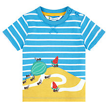 Buy John Lewis Ant Scene Stripe T-Shirt, Blue Online at johnlewis.com