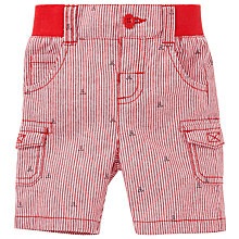 Buy John Lewis Ticking Anchor Short, Red/Blue Online at johnlewis.com
