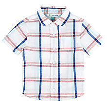 Buy John Lewis Check Short Sleeve Shirt, White/Multi Online at johnlewis.com