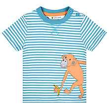 Buy John Lewis Monkey Stripe T-Shirt, Blue Online at johnlewis.com