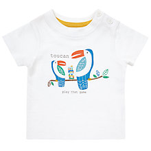 Buy John Lewis Baby 'Toucan Play That Game' T-Shirt, White/Multi Online at johnlewis.com