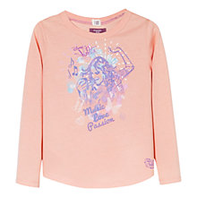 Buy Mango Kids Girls' Long Sleeve Disney Violetta T-Shirt, Pink Online at johnlewis.com
