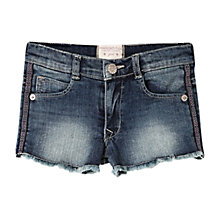 Buy Mango Kids Girls' Frayed Hem Denim Shorts, Blue Online at johnlewis.com