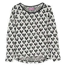 Buy Mango Kids Girls' Heart Sweatshirt Online at johnlewis.com