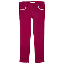 Buy Jigsaw Junior Girls' Moleskin Trousers, Pink Online at johnlewis.com
