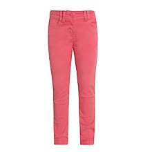 John Lewis Girl Bright Twill Trousers, Hot Pink