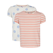 Buy John Lewis Girl T-Shirt, Pack of 2, Blue Online at johnlewis.com