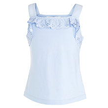 Buy John Lewis Girl Broderie Vest Online at johnlewis.com