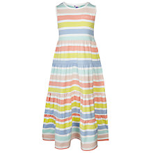 Buy John Lewis Girl Rainbow Stripe Dress, Multi Online at johnlewis.com