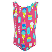 Buy John Lewis Girl Ice Cream Print Swimsuit, Pink/Multi Online at johnlewis.com