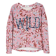 Buy Mango Kids Girls' Sequin Wild Floral Sweatshirt Online at johnlewis.com