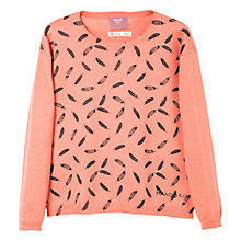 Buy Mango Kids Girls' Feather Print Jumper Online at johnlewis.com