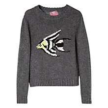 Buy Mango Kids Girls' Wool Blend Angelfish Jumper, Grey Online at johnlewis.com