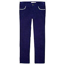 Buy Jigsaw Junior Girls' Moleskin Trousers, Blue Online at johnlewis.com