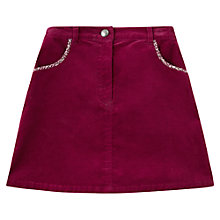 Buy Jigsaw Junior Girls' Moleskin Skirt, Pink Online at johnlewis.com