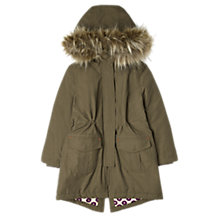 Buy Jigsaw Junior Girls' Parka Coat, Green Online at johnlewis.com