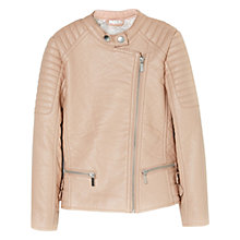 Buy Mango Kids Girls' Faux Leather Biker Jacket Online at johnlewis.com