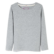 Buy Mango Kids Girls' Rhinestone Long Sleeved T-Shirt Online at johnlewis.com