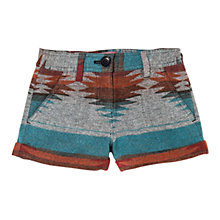 Buy Mango Kids Girls' Ethnic Pattern Shorts, Blue/Red Online at johnlewis.com