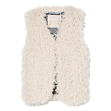 Buy Mango Kids Girls' Faux Fur Gilet, Cream Online at johnlewis.com