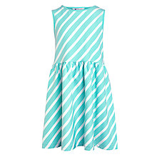 Buy John Lewis Girls' Stripe Dress, Aqua Online at johnlewis.com