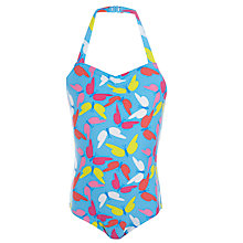 Buy John Lewis Girl Butterfly Print Halterneck Swimsuit, Multi Online at johnlewis.com