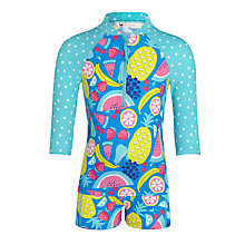 Buy John Lewis Girl Fruit Print Rash Vest & Shorts Set, Blue/Multi Online at johnlewis.com